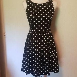 Lauren Conrad black and white poke a dot dress